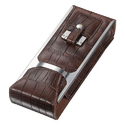 Black And Burgundy Grooved Robusto Cases, 5.5 X 15 X 3.5 Cm