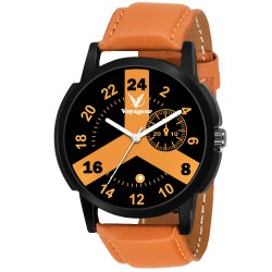Round Gents Leather Watch