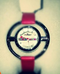 Red White Forest Watches, Model: F-135
