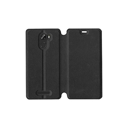 Leather Mobile Black Flip Cover