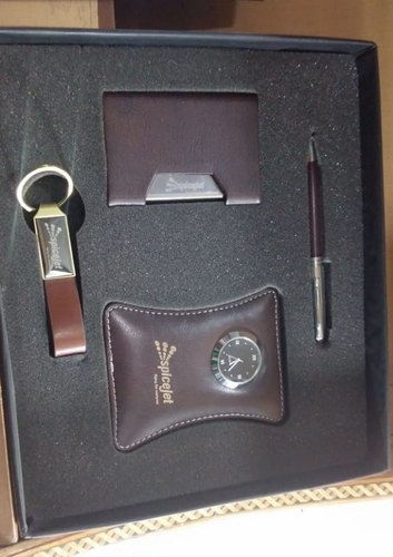Brown Leathertte, Metal Corporate Gifting