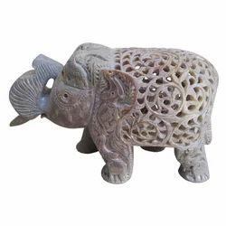 Soapstone Jali Elephant