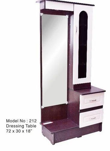 Black Standard Bedroom Dressing Table