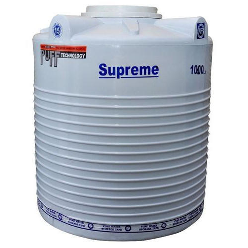 White 4 Layer Supreme Plastic Water Tank Capacity 1000 L Rs 7400 Piece Id 17904476062