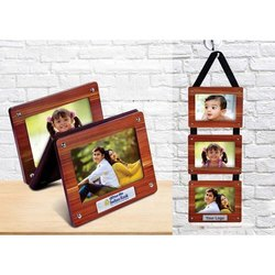 Hanging 3 Piece Wooden Photo Frame
