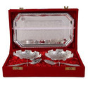 Diwali Gifts German Silver Plated Bowl Set