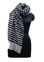 Merino Wool Scarves With Towel Line Weave