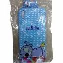 Rubber Blue Cartoon Design Mobile Back Cover, Packaging Type: Packet
