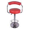 Red Brazos Metal Bar Stool