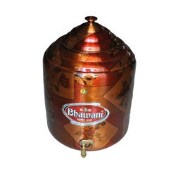 Copper Storage Tank/Matka/Pot (15 Litre)