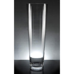Handicraft Voluminous Thick Glass Cylinder Vase, Size: Large