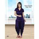 Ladies Satin Patiala Night Suit
