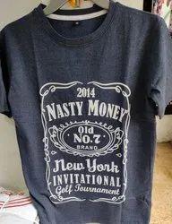Mens Trendy Wear T Shirt, Size: Medium