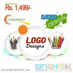 Text Type Logo Designing Service, Normal