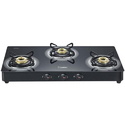 Black Lpg Prestige 3 Burner Stove, Brass, For Kitchen