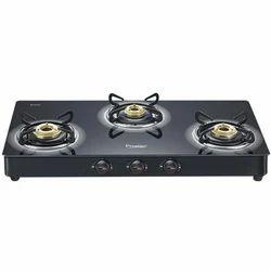 Black Lpg Prestige 3 Burner Stove, Brass, for Kitchen