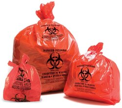 Plastic Orange Jumbo Garbage Bag
