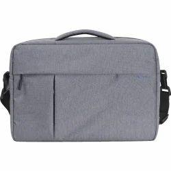 Polyester Grey Laptop Bag
