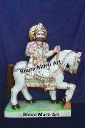 White Marble Baba Ramdev Statue