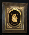 Radha Krishna Gold Leaf Frame 24 Kt.