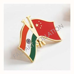 1030 India China Flag Badge