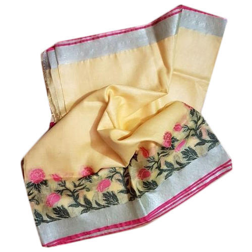 Linen Party Wear Printed Jamdani Saree