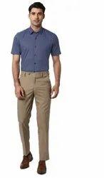 Flat Regular Fit Mens Formal Trouser, Machine wash, 6