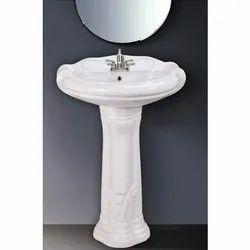 Belly Ceramic Pedestal Wash Basin, For Home