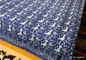 Indigo Blue Hand Block Printed Bed Sheet