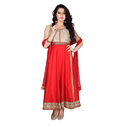 Party Wear Silk Anarkali Suit, Size: S-xl