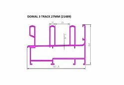 AL PROFILES ANODISED ALUMINIUM PROFILE SECTION, For Construction, As Needed