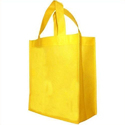Loop Handle Yellow Plain Non Woven Bag, Capacity: Up To 5 Kg