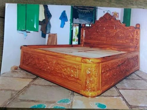 Teak Wood King Size Bed