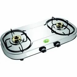 Silver LOK-210 SS Gold Two Burner Gas Stove