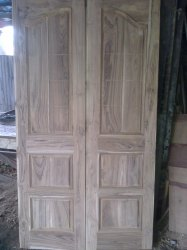 Matt, Glossy Raw Teakwood Door
