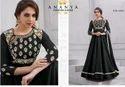 Luscious Black Tafeta Silk Salwar Kameez AFS149-1524