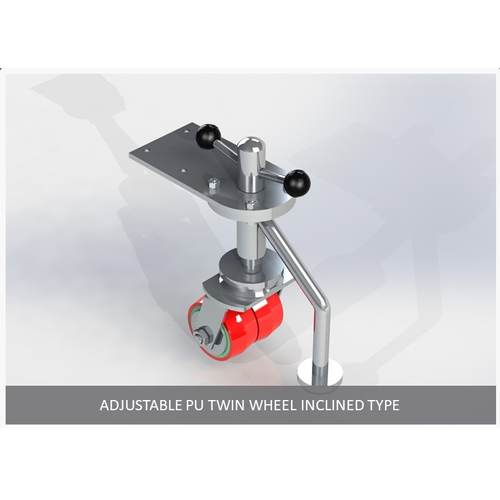 Red Adjustable PU Twis Wheel Inclined Type