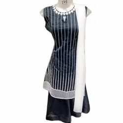 Modal Stitched Ladies Striped Embroidered Salwar Suit