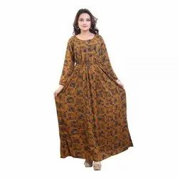 Rayon Party Wear Designer Long Gown