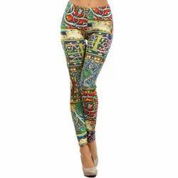 Cotton Straight Fit Ladies Printed Legging