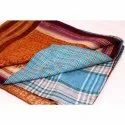 Indian Vintage Super Fine Kantha Quilt Handmade Cotton Blanket