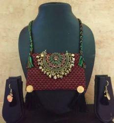 Fabric Jewellery  Khun Antique Afghani Pendant