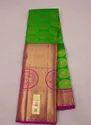 Two Gram Gold Zari Weaving Pure Handloom Silk Sarees