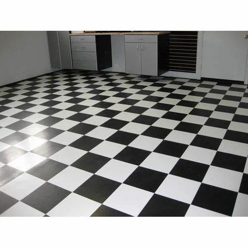 White Black Checkerboard Floor Tile 5