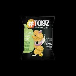 Tagz Popped Potato Chips - Cream Onion Divin