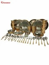 Copper / Stainless Steel Dinner Set (64 Pcs) for 6 People
