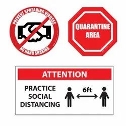 Social Distancing Sign / Social Distancing Sticker