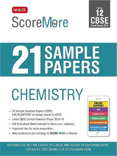 scoremore 21 sample papers cbse boards class 12 chemistry at rs 200