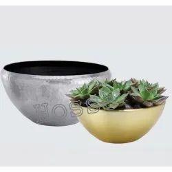 Hosse Interior Aluminium Bowl, Packaging Type: Box