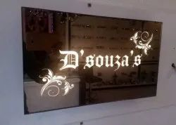 Rectangle Glass LED Name Plate